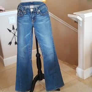 Vtg 90's True Religion Horseshoe Flared Jeans 30